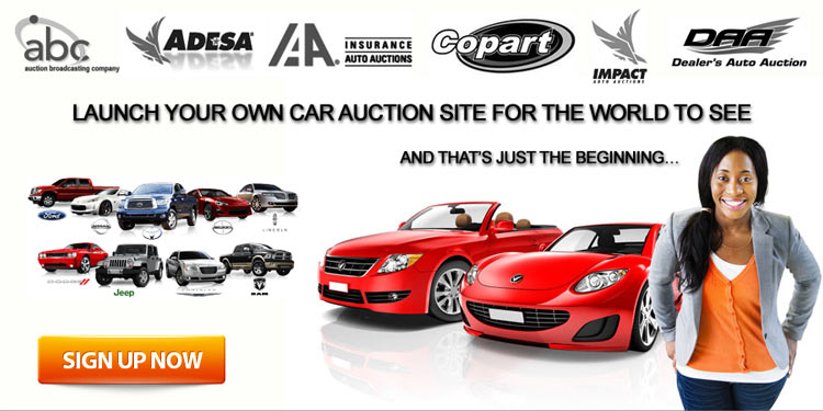 LAUNCH YOUR CAR AUCTION SITE FOR THE WORLD TO SEE